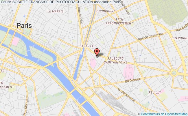 plan association Societe Francaise De Photocoagulation Paris 12e