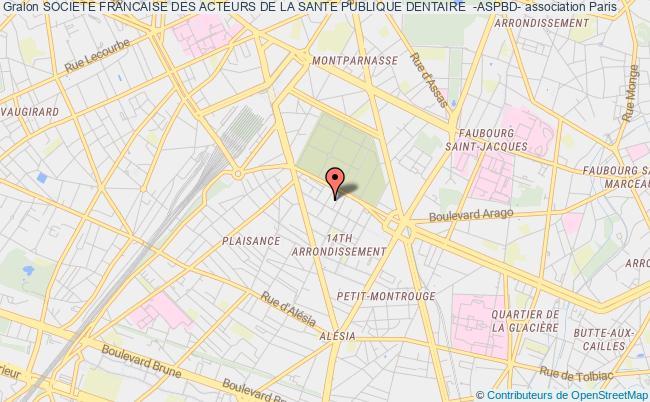 plan association Societe Francaise Des Acteurs De La Sante Publique Dentaire  -aspbd-