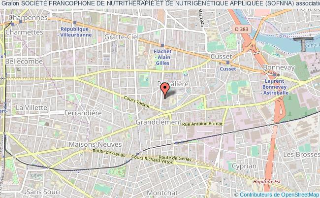 plan association SociÉtÉ Francophone De NutrithÉrapie Et De NutrigÉnÉtique AppliquÉe (sofnna)