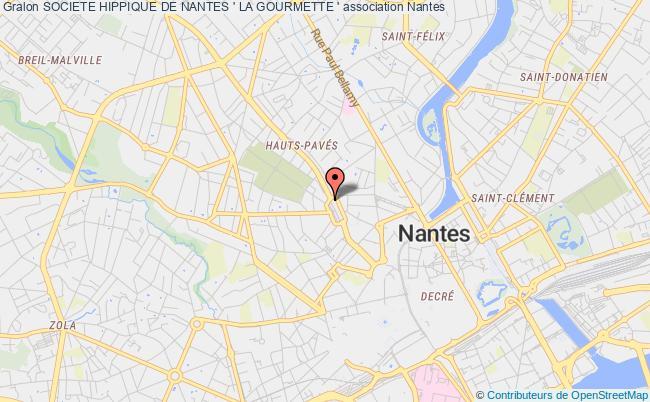 plan association Societe Hippique De Nantes ' La Gourmette '
