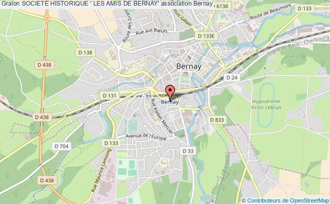plan association Societe Historique ' Les Amis De Bernay'