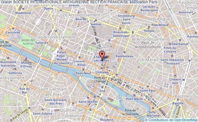 plan association Societe Internationale Arthurienne Section Francaise Paris