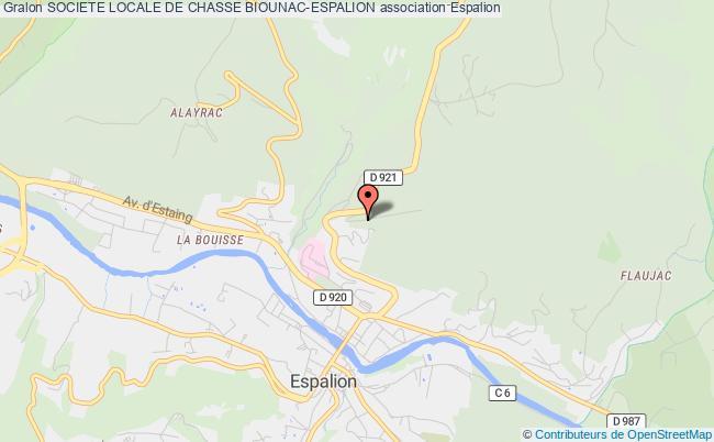 plan association Societe Locale De Chasse Biounac-espalion