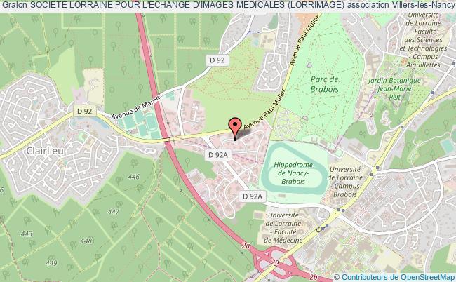 plan association Societe Lorraine Pour L'echange D'images Medicales (lorrimage)