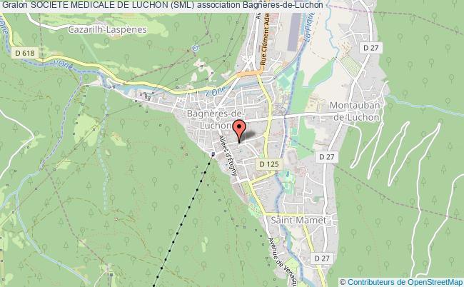 plan association Societe Medicale De Luchon (sml) Bagnères-de-Luchon