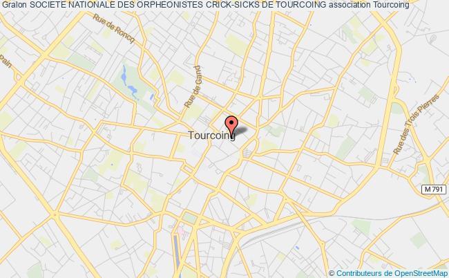 plan association Societe Nationale Des Orpheonistes Crick-sicks De Tourcoing