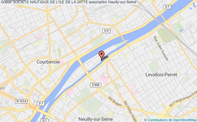 plan association Societe Nautique De L'ile De La Jatte Neuilly-sur-Seine