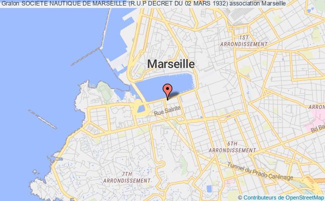plan association Societe Nautique De Marseille (r.u.p Decret Du 02 Mars 1932)