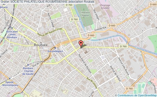plan association Societe Philatelique Roubaisienne Roubaix