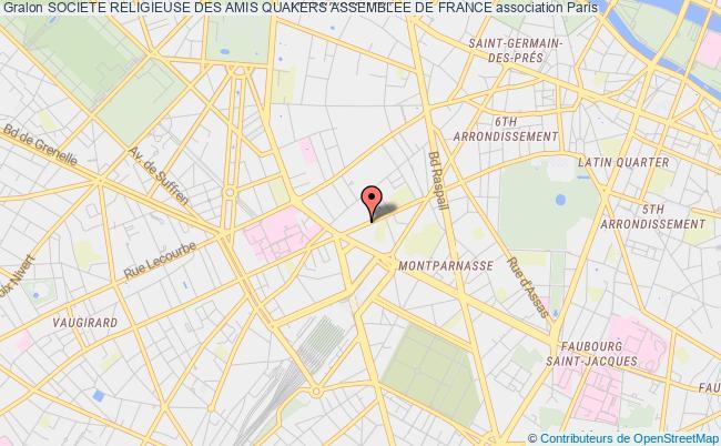 plan association Societe Religieuse Des Amis Quakers Assemblee De France Paris