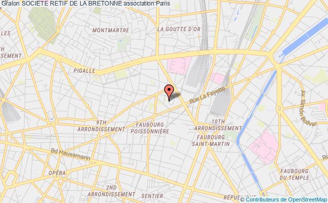 plan association Societe Retif De La Bretonne