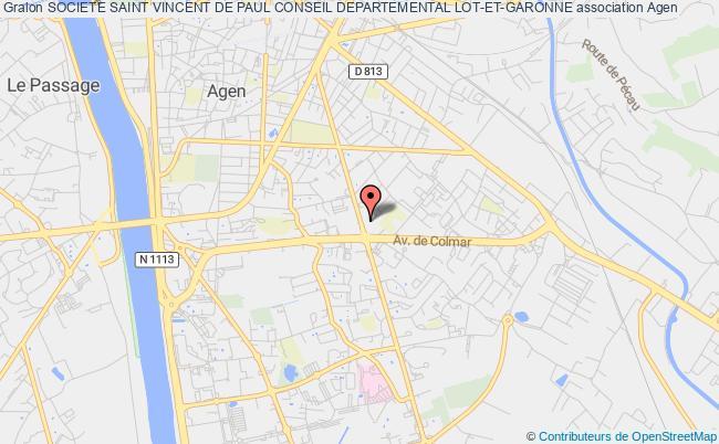 plan association Societe Saint Vincent De Paul Conseil Departemental Lot-et-garonne