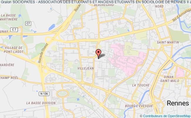 plan association Sociopates - Association Des Etudiants Et Anciens Etudiants En Sociologie De Rennes Ii