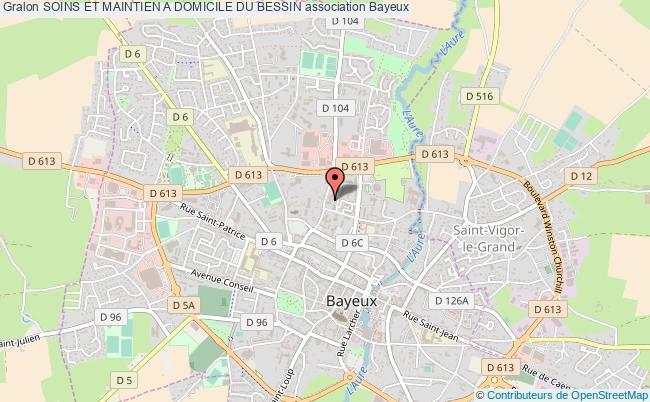 plan association Soins Et Maintien A Domicile Du Bessin Bayeux