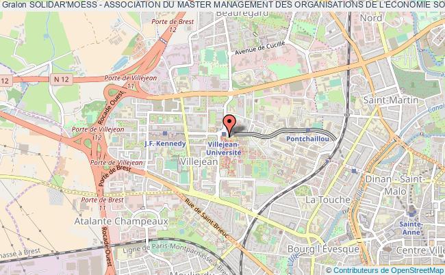 plan association Solidar'moess - Association Du Master Management Des Organisations De L'economie Sociale Et Solidaire, Pour Entreprendre Autrement Rennes