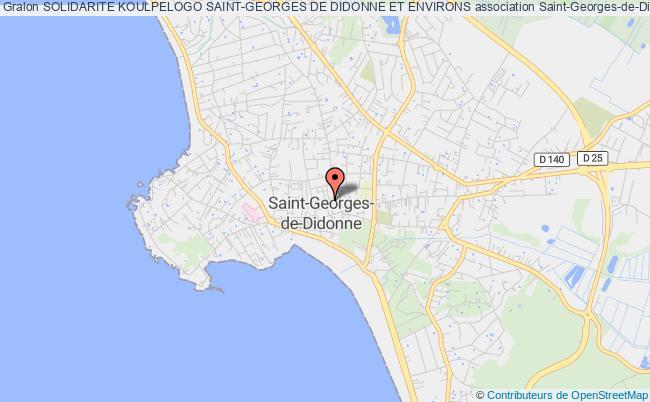 plan association Solidarite Koulpelogo Saint-georges De Didonne Et Environs Saint-Georges-de-Didonne