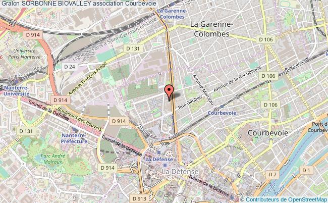 plan association Sorbonne Biovalley Courbevoie