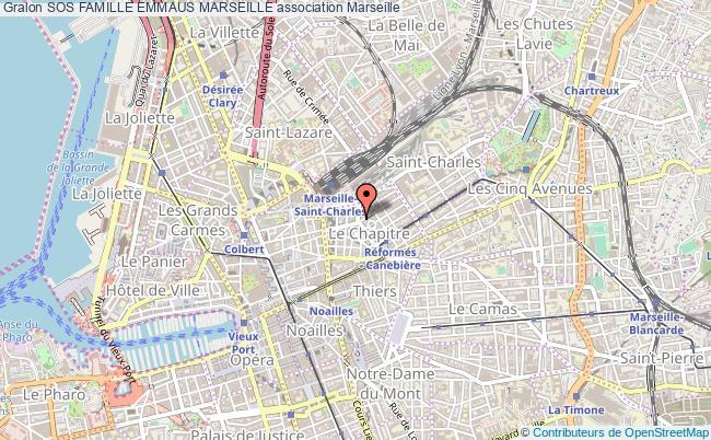 plan association Sos Famille Emmaus Marseille Marseille