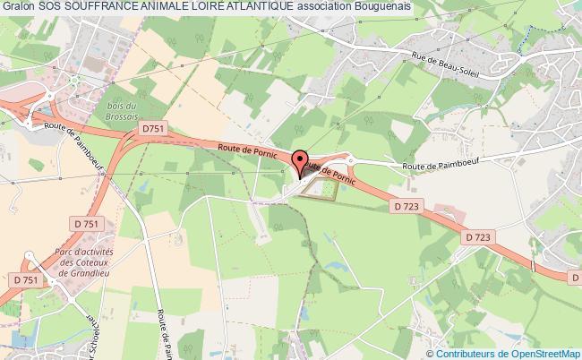 plan association Sos Souffrance Animale Loire Atlantique