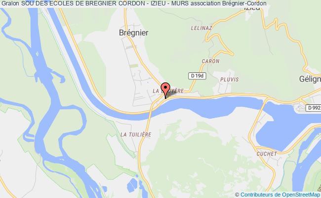 plan association Sou Des Ecoles De Bregnier Cordon - Izieu - Murs Brégnier-Cordon