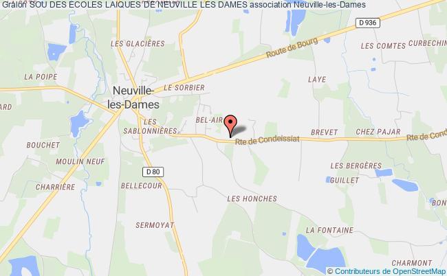 plan association Sou Des Ecoles Laiques De Neuville Les Dames Neuville-les-Dames