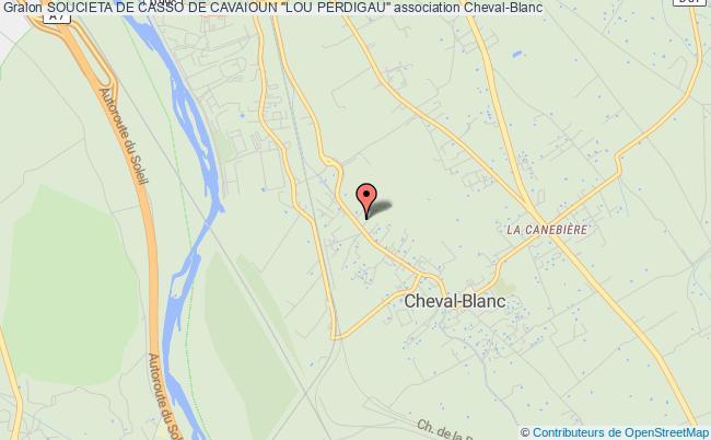 """plan association Soucieta De Casso De Cavaioun """"lou Perdigau"""""""