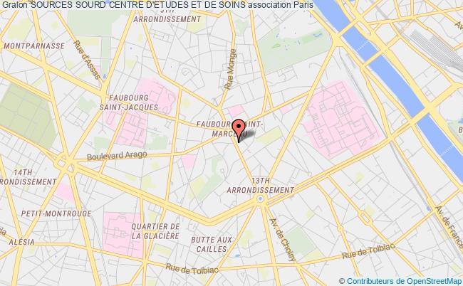 plan association Sources Sourd Centre D'etudes Et De Soins
