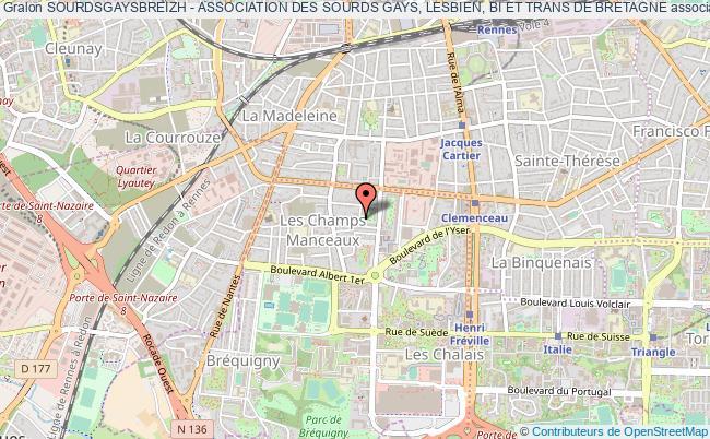 plan association Sourdsgaysbreizh - Association Des Sourds Gays, Lesbien, Bi Et Trans De Bretagne Rennes