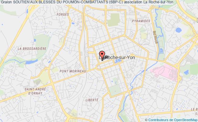 plan association Soutien Aux Blesses Du Poumon La    Roche-sur-Yon