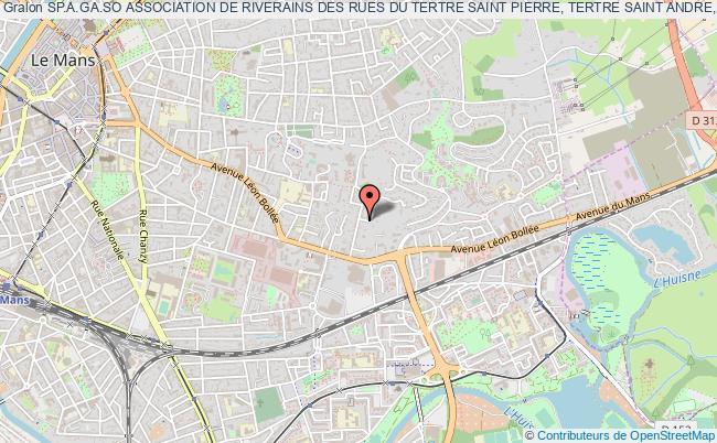 plan association Sp.a.ga.so Association De Riverains Des Rues Du Tertre Saint Pierre, Tertre Saint Andre, Gazonfier, Solitude, Et Rues Adjacentes