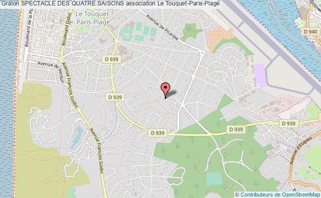 plan association Spectacle Des Quatre Saisons Le    Touquet-Paris-Plage