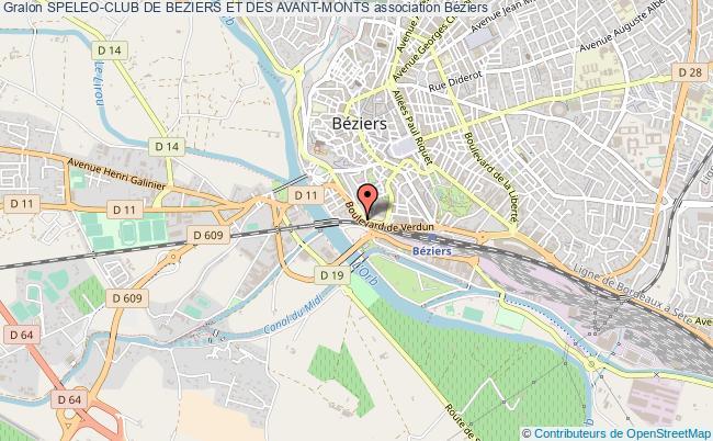 plan association Speleo-club De Beziers Et Des Avant-monts Béziers