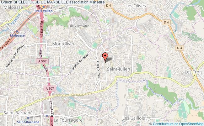 plan association Speleo Club De Marseille Marseille