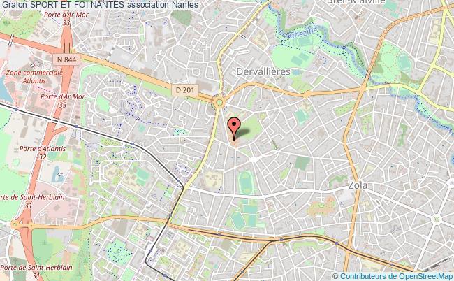 plan association Sport Et Foi Nantes