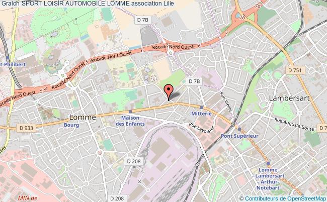 plan association Sport Loisir Automobile Lomme