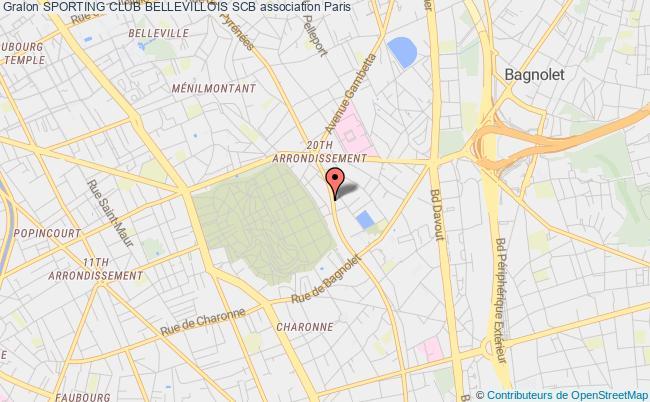 plan association Sporting Club Bellevillois Scb