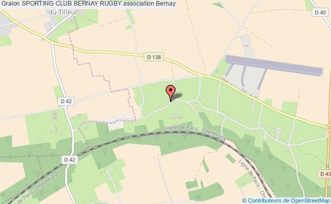 plan association Sporting Club Bernay Rugby