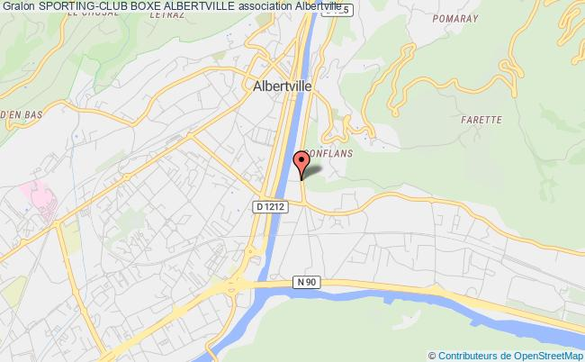 plan association Sporting-club Boxe Albertville