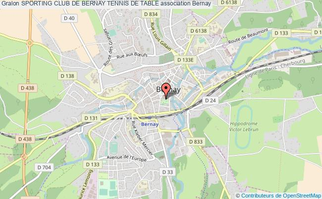 plan association Sporting Club De Bernay Tennis De Table