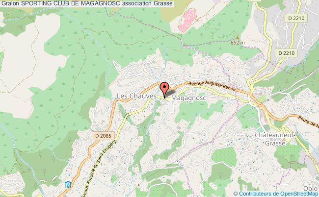 plan association Sporting Club De Magagnosc Grasse