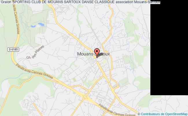 plan association Sporting Club De Mouans Sartoux Danse Classique Mouans-Sartoux