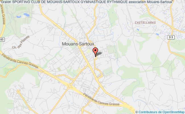 plan association Sporting Club De Mouans-sartoux Gymnastique Rythmique Mouans-Sartoux