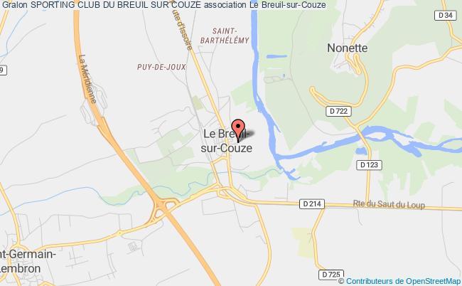 plan association Sporting Club Du Breuil Sur Couze Le    Breuil-sur-Couze