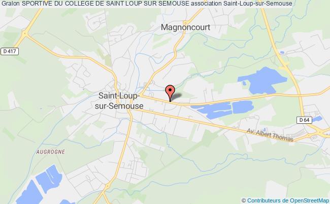 plan association Sportive Du College De Saint Loup Sur Semouse