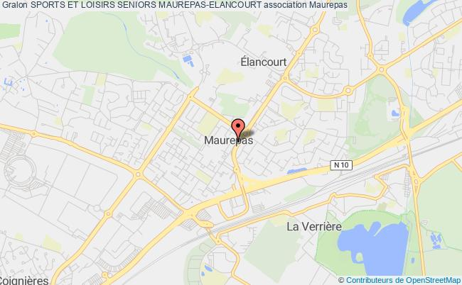 plan association Sports Et Loisirs Seniors Maurepas-elancourt Maurepas