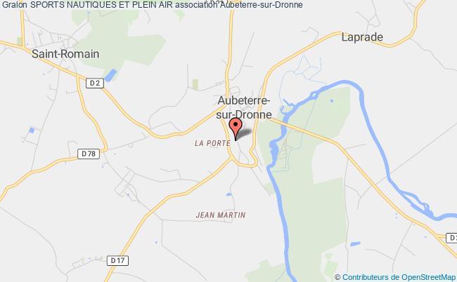 plan association Sports Nautiques Et Plein Air Aubeterre-sur-Dronne
