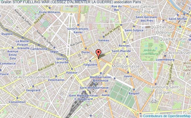 plan association Stop Fuelling War (cessez D'alimenter La Guerre) Paris