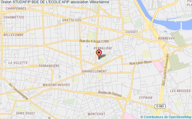 plan association Stud'afip Bde De L'École Afip