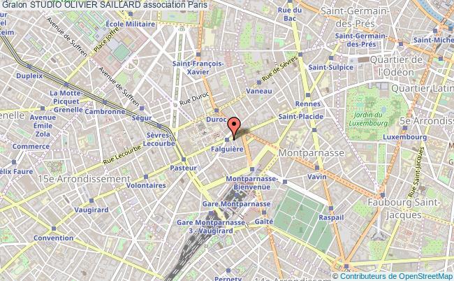 plan association Studio Olivier Saillard Paris 15e