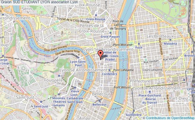 plan association Sud Etudiant Lyon